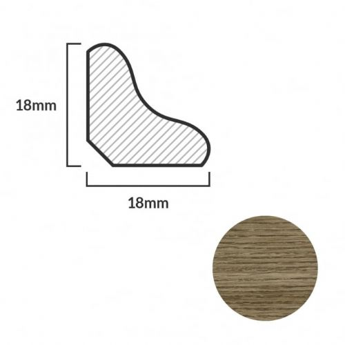 FC45 Scotia Beading For Laminate Flooring